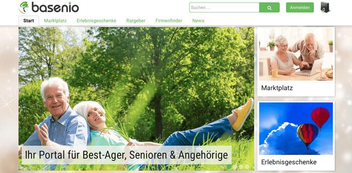 basenio - Portal für Best-Ager und Senioren