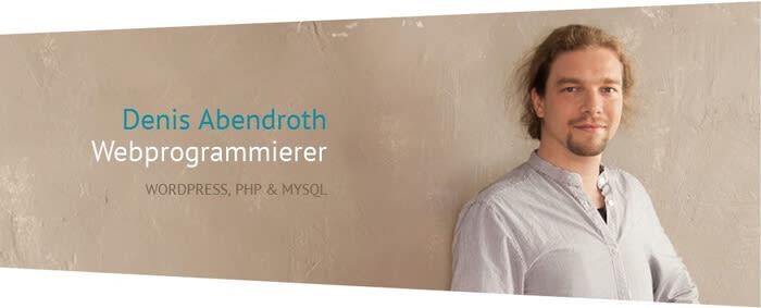 Denis Abendroth - Webprogrammierer